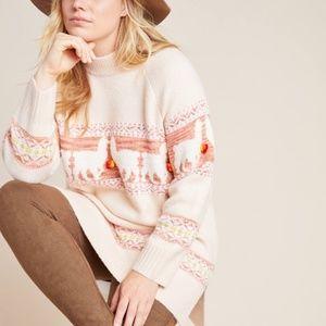 NWT ANTHROPOLOGIE Aimee Alpaca Sweater M
